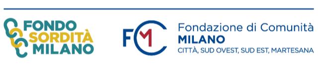Logo Bando Sordità e Fondazione Comunità Milano