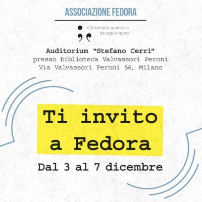 Evento Ti invito a Fedora